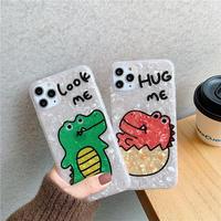 【N968】★ iPhone 11/11Pro/11ProMax /7/7Plus/8/8Plus / X/ XS / Xr /Xsmax ★ シェルカバー ケース Look Me/ Hug Me