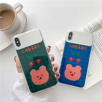 【N488】★ iPhone 6 / 6sPlus / 7 / 7Plus / 8 / 8Plus / X /XS /XR/Xs max★ シェルカバーケース Cherry bear