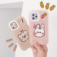 【N869】★ iPhone 11/11Pro/11ProMax /7 / 7Plus / 8 / 8Plus / X/ XS / Xr /Xsmax ★ シェルカバー ケース Rabbit/Bear