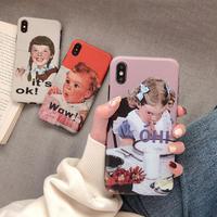 【N272】★ iPhone 6 / 6s / 6Plus / 6sPlus / 7 / 7Plus / 8 / 8Plus / X/ Xs★ シェルカバー ケース  可愛い  Girl