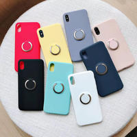 【N394】★ iPhone 7 / 7Plus / 8 / 8Plus / X/ XS / Xr /Xsmax ★ スマホケース 携帯ケース リング付き