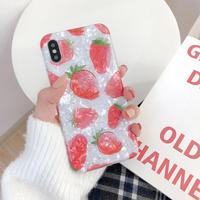 【N215】★ iPhone 6 / 6sPlus / 7 / 7Plus / 8 / 8Plus / X/XS / Xr /Xsmax ★ シェルカバー ケース strawberry