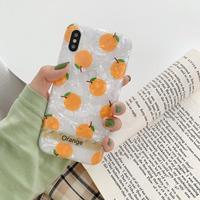 【N361】★iPhone 6 / 6s / 6Plus / 6sPlus / 7 / 7Plus / 8 / 8Plus / X / Xs ★iPhone ケース オレンジ