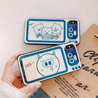 【N662】★iPhone 6 / 6sPlus / 7 / 7Plus / 8 / 8Plus / X / Xs / XR/ Xsmax ★iPhone ケース happy pigs