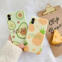 【N395】★ iPhone 6 / 6sPlus / 7 / 7Plus / 8 / 8Plus / X /XS /XR/Xs max★ シェルカバーケース  Pineapple