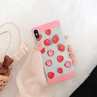 【N449】★iPhone 6 / 6s / 6Plus / 6sPlus / 7 / 7Plus / 8 / 8Plus / X / Xs ★iPhone ケース Strawberry