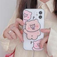 【C969】★ iPhone 12/12pro/12promax/11/Pro/ProMax /7/7Plus/8/8Plus/X/XS/XR/Xs max★ シェルカバーケース pink pig