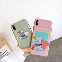 【N313】★ iPhone 6 / 6sPlus / 7 / 7Plus / 8 / 8Plus / X /XS /XR/Xs max★ シェルカバーケース so cute elephant