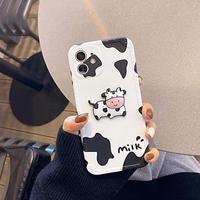 【C757】★ iPhone12/11/Pro/ProMax /7/7Plus / 8/8Plus /X/XS/XR/Xs max★ シェルカバーケース  milkcow