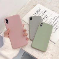 【N247】★ iPhone 6 / 6s / 6Plus / 6sPlus / 7 / 7Plus / 8 / 8Plus / X/XS ★ シェルカバー ケース Solid color
