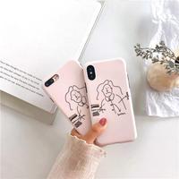 【M522】♡ iPhone 6 / 6sPlus / 7 / 7Plus / 8 / 8Plus / X /Xs /Xr /xs max♡ シェルカバー ケース Weird Face ピンク