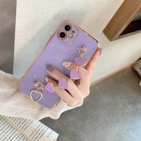 【C732】★ iPhone12/11/Pro/ProMax /7/7Plus /8/8Plus/X/XS /XR/Xs max★ シェルカバーケース Purple