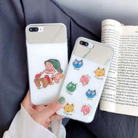 【N509】★ iPhone 6 / 6sPlus / 7 / 7Plus / 8 / 8Plus / X /XS /XR/Xs max★ シェルカバーケース old lady with cats