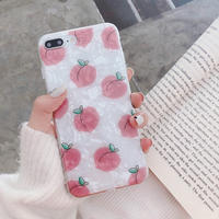 【N150】★ iPhone 6 / 6sPlus / 7 / 7Plus / 8 / 8Plus / X/ XS / Xr /Xsmax ★ シェルカバース  Peach