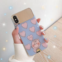 【N396】★iPhone 6 / 6sPlus / 7 / 7Plus / 8 / 8Plus / X / Xs /XR/XsMax★iPhone ケース Mirror heart Boy