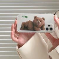 【C975】★ iPhone 12/11/Pro/ProMax /7/7Plus/8/8Plus/X/XS/XR/Xs max★ シェルカバーケース bear