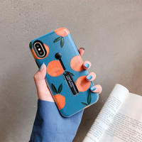 【M120】★ iPhone 6 / 6sPlus / 7 / 7Plus / 8 / 8Plus / X/XS/XR/Xs Max ★ シェルカバーケース Orange in Love