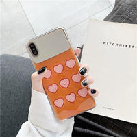 【N446】★iPhone 6 / 6s / 6Plus / 6sPlus / 7 / 7Plus / 8 / 8Plus / X / Xs ★iPhone ケース Mirror heart