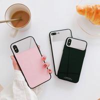 【M758】★ iPhone 11/11Pro/ProMax/6/6s/6Plus/6sPlus /7/7Plus /8/8Plus / X ★ シェルカバーケース  Mirror 3色