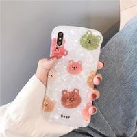 【N505】★iPhone 6 / 6s / 6Plus / 6sPlus / 7 / 7Plus / 8 / 8Plus / X / Xs ★iPhone ケース Bear bear