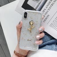 【N348】★iPhone 6 / 6s / 6Plus / 6sPlus / 7 / 7Plus / 8 / 8Plus / X / Xs ★iPhone ケース Golden flower