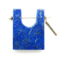 Lapis-lazuli Rock Pierced Earring