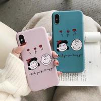 Heart Cartoon Boy Girl iPhone case