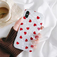 Red Hearts Shell iPhone case
