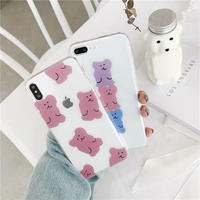 Pastel Bears Clear iPhone case
