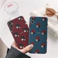 Leon Matilda Red Blue iPhone case