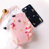 Starry Sky Bambi and Girl Clear iPhone case