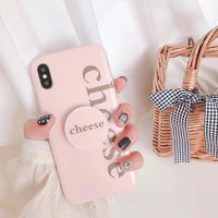 Pink Cheese with Stand iPhone case