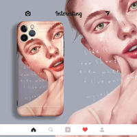 Stylish Cover Girl  iPhone case