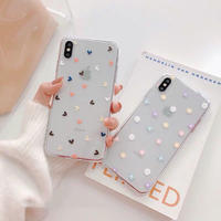 Pastel Heart Flower Clear iPhone case