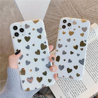 Gold Sliver mini Heart iPhone case
