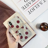 Red Wine Dots iPhone case
