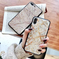 Golden Glitter Marble iPhone case
