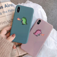 Green Pink Dinosaur iPhone case