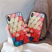 Color Diamond Shape Glitter iPhone case