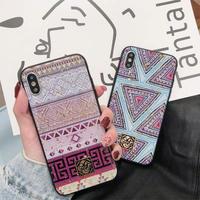 Purple Blue Ethnic iPhone case