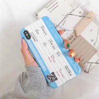 Love Flight Boarding Pass iPhone case