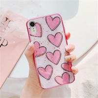Pink Hearts Glitter iPhone case