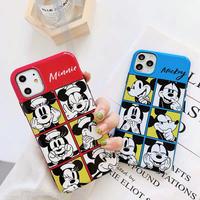 【Disney】Blue Red Mickey Minnie iPhone case