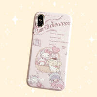 Sanrio Characters Pink iPhone case