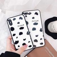 Milk Black Frame iPhone case