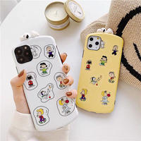 Yellow White Peanuts iPhone case