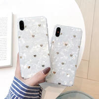 Golden Hearts Shell iPhone case