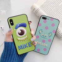 【Disney】Mike & Sulley Embroidery iPhone case