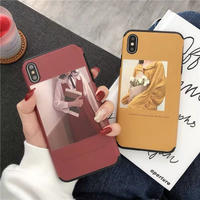 Red Yellow Hipster Girl iPhone case