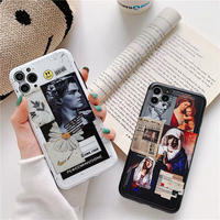 Black White Poster iPhone case